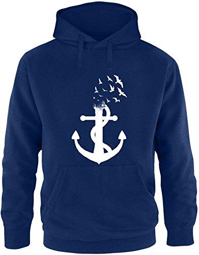 Billabong-strampler (EZYshirt® Anker Ocean Herren Hoodie | Herren Kapuzenpullover | Herren Pullover)