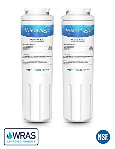 Whirlpool Kenmore Kühlschrank (2 x Waterdrop WD-UKF8001 Kühlschrank Wasserfilter Ersatz für Maytag UKF8001, UKF8001AXX, UKF8001P, EDR4RXD1, Whirlpool 4396395, Puriclean II, Kenmore 9006, 46-9006, Viking RWFFR)