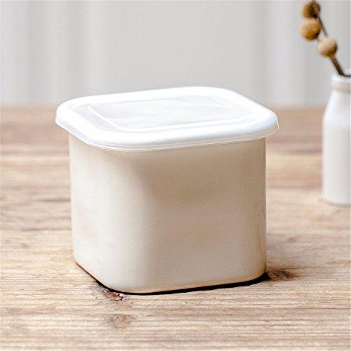 Wiederverwendbare Food Container/Essen Aufbewahrungsboxen, dicken Lack versiegelt, Aufbewahrungsbox, Kochnische Kühlschrank Aufbewahrungsbox Veranstalter Lunch Box Container Container, Reis Weiß, 13,5 * 13,5 * 11,5 cm