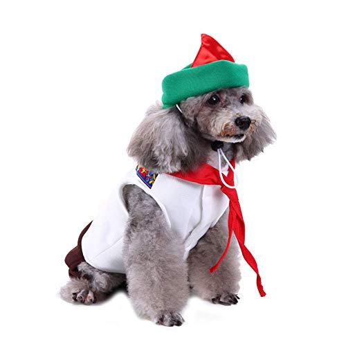 CHIYEEE Weihnachten Haustier Lustig Kleidung für Hunde und Katzen Niedlich Hundebekleidung Welpen Halloween Sweatshirt T-Shirt Kostümiert ()