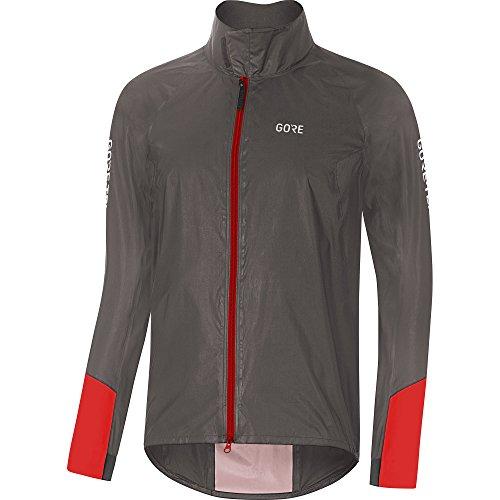 Preisvergleich Produktbild GORE Wear C5 Herren Fahrrad-Jacke GORE-TEX SHAKEDRY,  L,  Grau / Rot