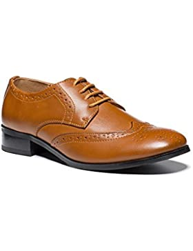 [Patrocinado]Paisley of London, Niño Zapatos Color Canela, niño Zapatos oxford, Zapatos De Niño, Niño 8 - GB 6