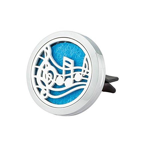 Jaoyu diffusore di oli essenziali deodorante per auto Vent clip in acciaio INOX galleggiante fascino medaglione-Musical gioielli per donne uom