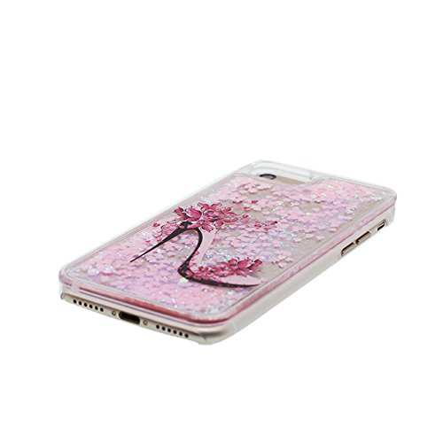 iPhone 7 Custodia, iPhone 7 Copertura, Bling liquido fluido trasparente in silicone durevole Cartoon Cover & tappi antipolvere - bianca ( Case Per iPhone 7 4.7 ) # 1