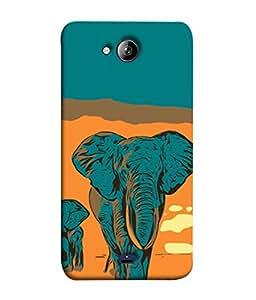 Snapdilla Designer Back Case Cover for Micromax Unite 3 Q372 :: Micromax Q372 Unite 3 (Nature Travel Jungle Safari African Wildlife Brown)