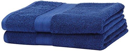AmazonBasics Handtuch-Set, ausbleichsicher, 2 Saunatücher, Königsblau