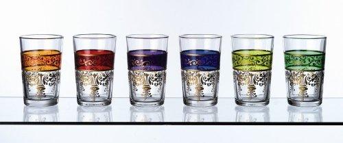 Orientalisches Tee-Glas Set Dina 6tlg. 6 Farben