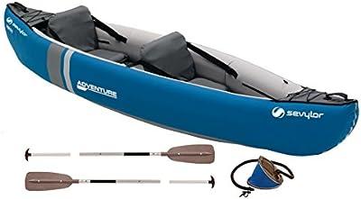 Sevylor Canoa Adventure Kit (2 P) - Canoa Adventure Kit (2 P), color azul, talla No