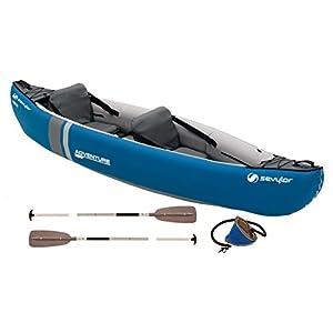 41ZQYwAIWrL. SS300  - Sevylor Unisex Adventure Plus 2-3 Man Canadian Canoe Inflatable Sea Kayak