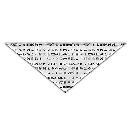 Video Games Font Character Map Pet Dog Cat Puppy Bandana Triangle Head Scarfs Accessories -