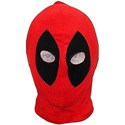 MHSXN Deathmaid Deadpool Mask Headgear Halloween Props Algodón Cosplay A-OneSize,Deadpool-S