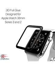 Careflection Premium Full Glue Tempered Glass for Apple watch iWatch 38mm Series 2 3 II III 3D Full Glue GLASS Tempered Glass Screen Protector, Anti-Scratch, Bubble Free