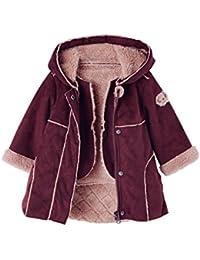 VERTBAUDET Manteau bébé fille 2 en 1 en peau lainée