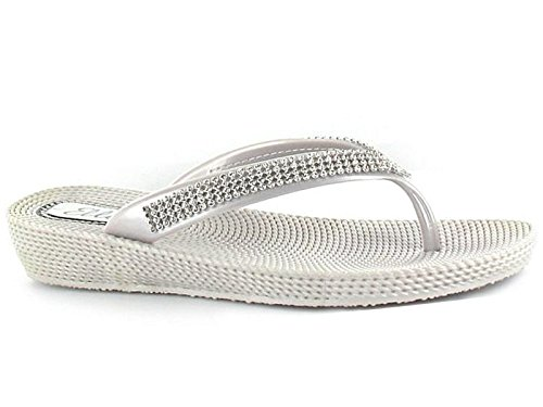 ladies-ella-s1-diamante-toe-post-flat-low-wedge-jelly-flip-flop-summer-sandals-size-3-8-uk-5-silver