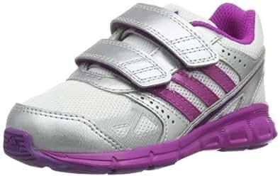adidas Performance HyperFast CF D67283 Unisex-Kinder Sneaker, Weiß (Running White FTW/Vivid Pink S13/Metallic Silver), EU 20