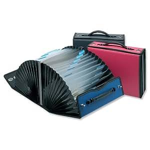 Snopake Valise trieur accordéon ouverture 180° recyclé 26 compartiments Rose