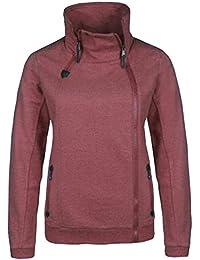 b66658477fc3 Damen Zipperjacke Sweatjacke Übergangsjacke Frühjarsjacke Sweater modern  und stylisch mit…