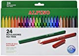 Alpino AR000003 Trousse de 24 Surligneurs Pointe Fine Couleurs Assorties