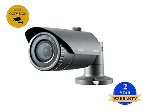 SS359 - SAMSUNG SNO-L6083R 2MP HD CCTV-Gewehrkugel-Kamera DAY & NIGHT ICR 2,8 ~ 12mm Vario-Objektiv H.264, MJPEG POE IR 20M IP66 wetterfest 0.3Lux -