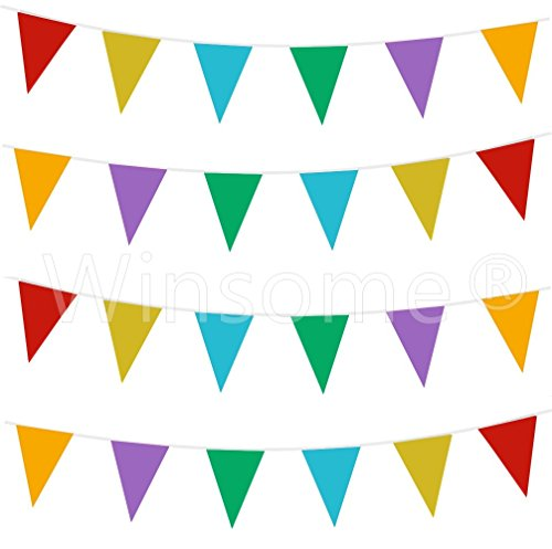 winsome-33-feet-long-20-flags-multi-colour-pvc-plastic-bunting-banner-pennant-double-sided-for-birth