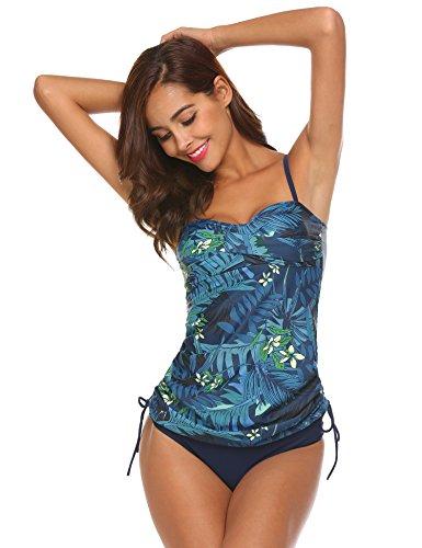 Unibelle da donna costume da bagno tankini bikini sexy moda due pezzi nero bianco punti costumi da mare xxl