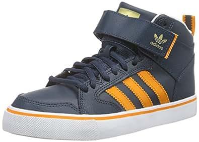 adidas Originals Varial 2.0 Mid, Sneakers Basses Homme - Bleu - Blau (Midnight F15/Bright Orange/FTWR White), 44