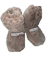 Microwave Boots Slippers for Men Large Size 8-11 Brown