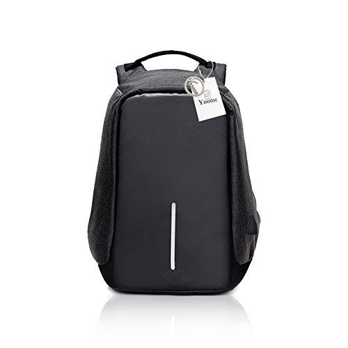 Zaino per laptop Yoome Business, Anti Theft Bookbag per donna e uomo, Zaino universitario impermeabile con porta USB di ricarica