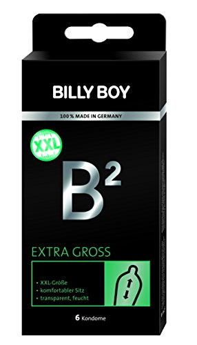 Billy Boy B² Extra Groß XXL Kondome  transparent 6er Packung. 6 Kondome