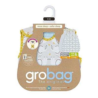 Grobag - Saco de dormir (2,5 tog, 0 a 6 meses), diseño de elefante