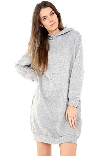 Comfiestyle - Robe - Tunique - Manches Longues - Femme Gris