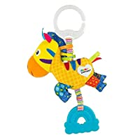 LAMAZE Mini Clip and Go Zebra Baby Toy, Clip On Baby Pram Toy and Pushchair Toy, Newborn Sensory Toy for Babies Boys and Girls from 0 to 6 Months
