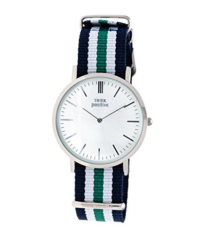 ladies-think-positiver-model-se-w92-watch-large-flat-steel-strap-of-cordora-color-blue-white-green