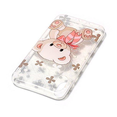 iPhone X Hülle, Voguecase Silikon Schutzhülle / Case / Cover / Hülle / TPU Gel Skin für Apple iPhone X(Armbanduhr) + Gratis Universal Eingabestift rosa Bär 03