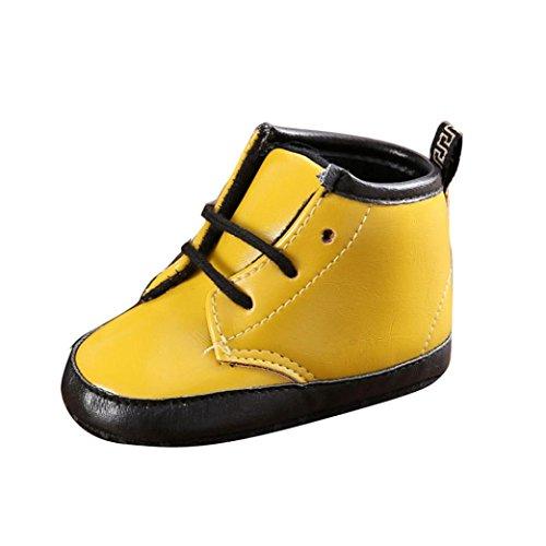 Martin bottes,Clode® bébé d'hiver enfant Martin bottes chaussures chaudes (6 ~ 12 mois, jaune) jaune