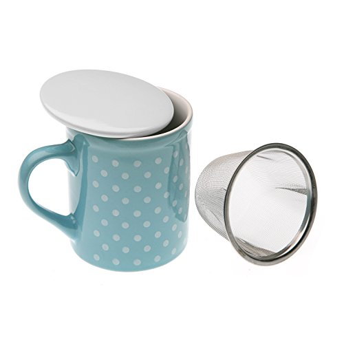 Versa 10680010 Taza Infusion Azul, 10x8,5x11cm, Gres, Té, Mug, Café