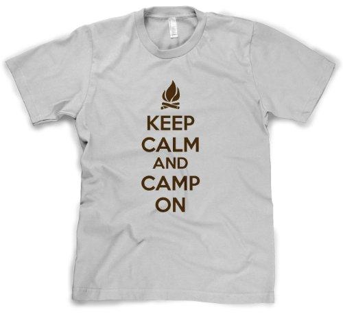 Crazy Dog Tshirts Youth Keep Calm and Camp On T Shirt Funny Meme KCCO Camping Tee For Kids (white) XL - jungen - XL (Mädchen-pfadfinder-verdienst-abzeichen)