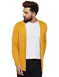 Wittrends Men's Cotton Blend Full Sleeves Shawl Neck Cardigan Shrug with Side Pockets (Multiple Colors)