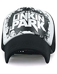 0a76c9c91cbbfd Malik Accessories Men's and Women's Half Net Linkin Park Fabric Baseball Cap  f (Black,