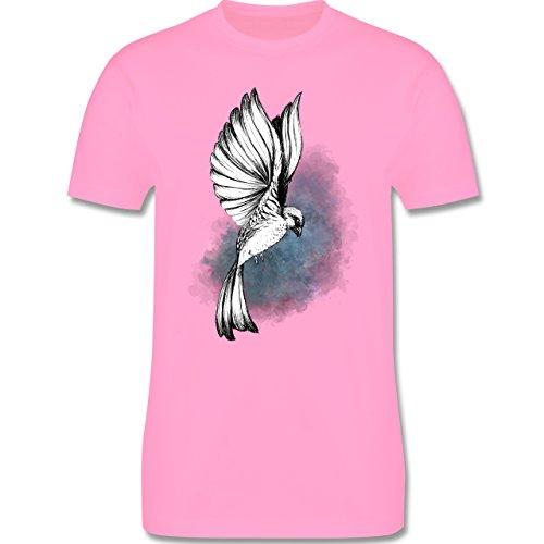 Vögel - Vogel Aquarelle Zeichnung - Herren Premium T-Shirt Rosa