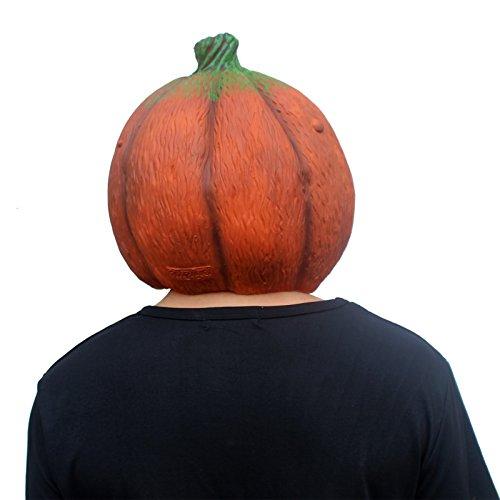 CreepyParty-Mscara-de-Cabeza-Vegetal-de-Fiesta-de-Traje-Lujo-de-Halloween-de-Novedad-La-calabaza