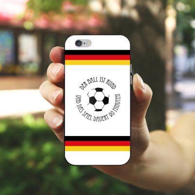 Apple iPhone X Silikon Hülle Case Schutzhülle Fußball Spruch Sport Silikon Case schwarz / weiß
