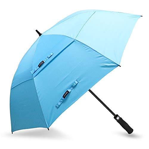 Grande ombrello zomake, 172cm ombrello da golf antivento per 2 persone, automatico (blu chiaro)