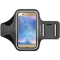 Xperia XA1 Ultra Brazalete, J&D Brazalete Deportivo para Sony Xperia XA1 Ultra, Ranura para Llaves, Conexión Perfecta con Auriculares mientras Ejercicios y Carreras - Negro