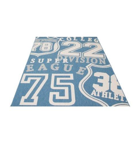 Flachgewebe Outdoor- Indoor Teppich Amercian Football- Größe wählbar (160 cm x 230 cm)