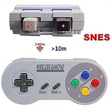 Controller wireless per Nintendo Super NES Classic Mini, TT Globle 2.4GHz controller wireless per SNES classica mini Edition, manette Super Nintendo Classic Mini Wireless