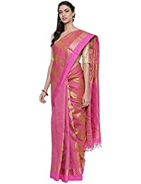 The Chennai Silks Silk with Blouse Piece Saree (CCMYSS8930_Pink_Free Size)