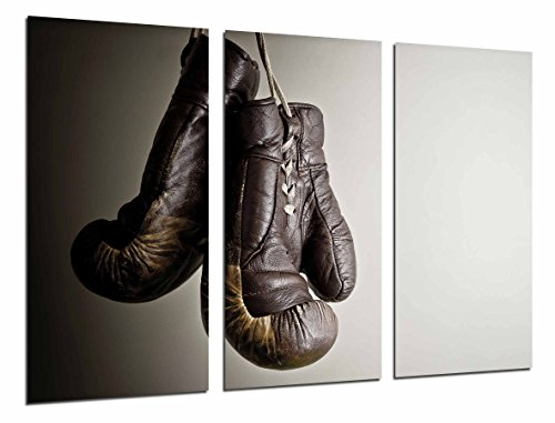 Cuadro Moderno Fotografico Deporte Boxeo, Guante Marron Gris, Motivacion, 97 x 63 cm, Ref. 26788