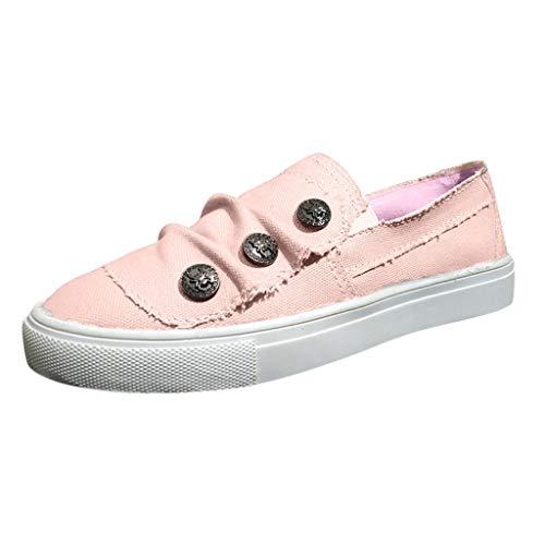 Scarpe piatte da donna, estive, antiscivolo, traspiranti, leggere, alla moda, comode scarpe da guida Rosa 40