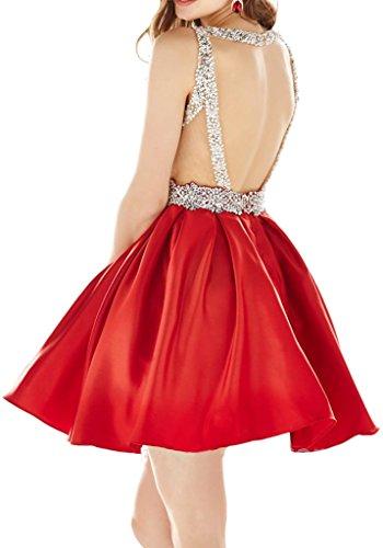 Victory Bridal 2016 Neu modisch Abendkleider Cocktailkleider Partykleider  Deep V A-Linie Rock Mini kurz